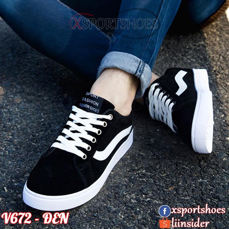 Giày thể thao nam Vans - Giày sneaker nam thời trang vải thoáng khí V672