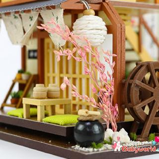 Mô Hình Ngôi Nhà Gỗ Phong Cách Nhật Bản Cho Nhà Búp Bê