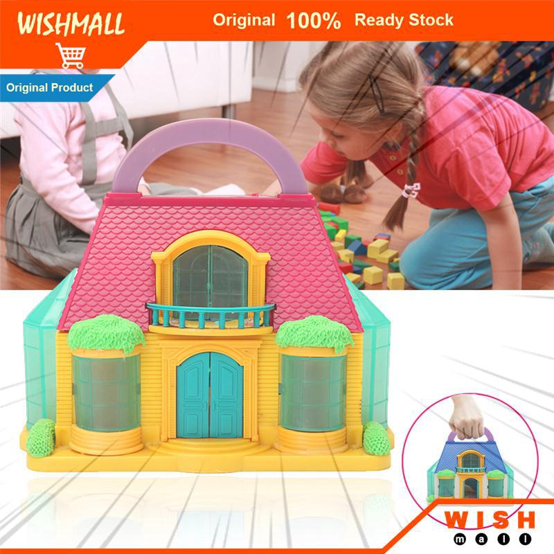 DIY Hut Play House Toy Doll House Toy Villa 2-Storey DIY Gift Detachable