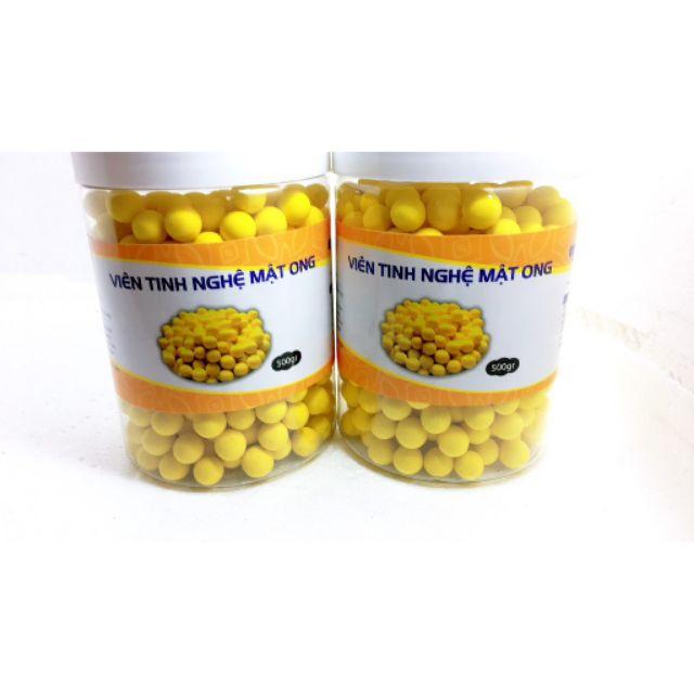 500gr viên tinh nghệ mật ong hoa rừng nguyên chất có giấy chứng nhận ATTP