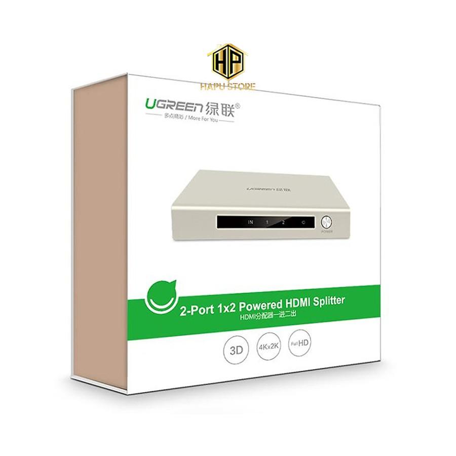 Bộ chia HDMI 1 ra 2 chuẩn 1.4, hỗ trợ 4K*2K, 3D Ugreen 40276 chính hãng - Hapugroup