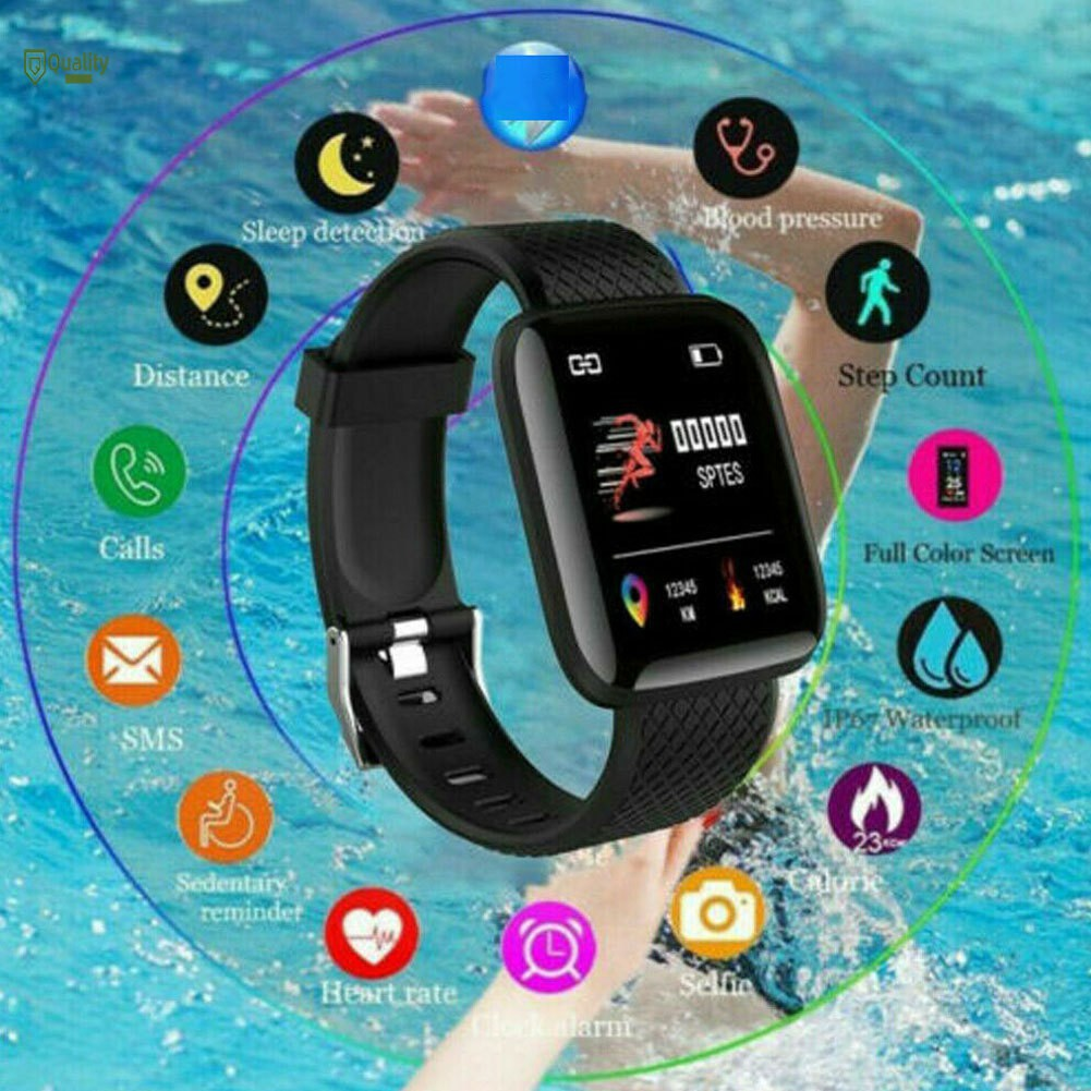 TH♥ Bluetooth Smart Watch Heart Rate Oxygen Blood Pressure Sport Fitness Tracking Device