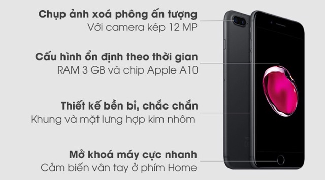 Điện Thoại IPhone 7Plus Lock - Like New