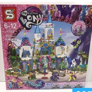 Lego Sheng Yuan 1102 SY1102 Castle My Little Pony Xếp hình Lâu Đài Của Ngựa Pony 862 khố
