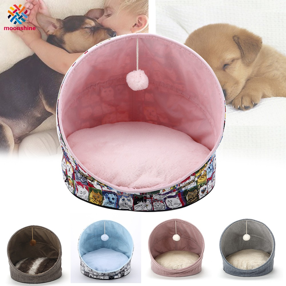 Pet Dog House Foldable Warm Puppy Cats Sleeping Bed Mat Kennel Tent