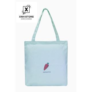 Túi Vải Đeo Vai Tote Bag Cà Rốt Xanh Trắng XinhStore thumbnail