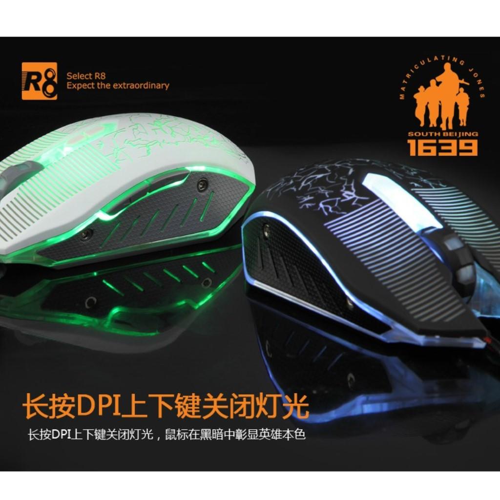 Chuột Chơi Game R8 1639 Có LED