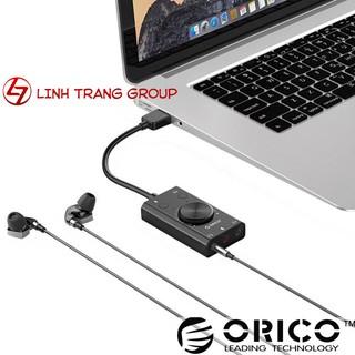 [Mã ELFLASH5 giảm 20K đơn 50K] Sound card (card âm thanh) gắn cổng USB Orico SC2 PK39