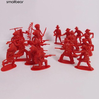 💮🐬70Pcs/Pack Classic Indians & Cowboy Figures Army Soldiers Toy Kids Gift