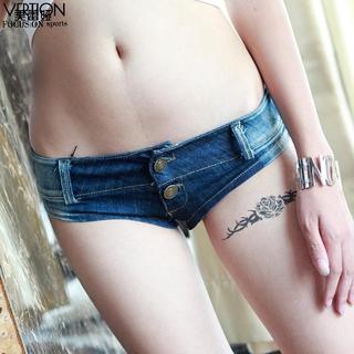 On Meileiya Quần Short Jeans Siêu Ngắn Gợi Cảm Cho Nữ