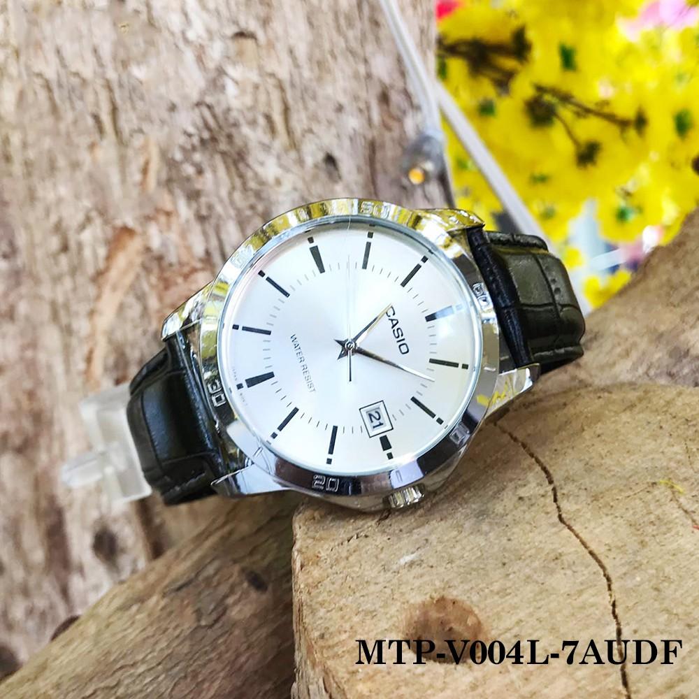 Đồng hồ nam Casio chính hãng Anh Khuê MTP-V004 (Dây da và thép) (42mm) Series MTP-V0