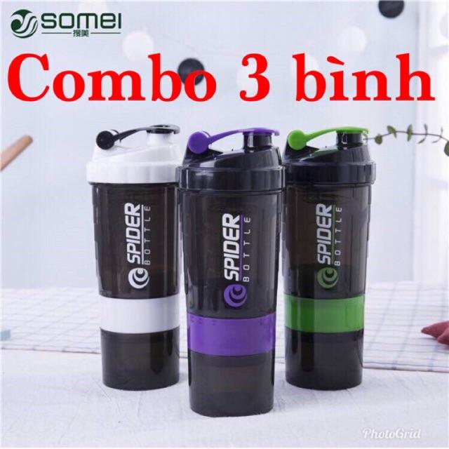 Combo 3 bình nước lắc 3 ngăn tặng con lắc (màu bất kỳ) - 10086122 , 1113157446 , 322_1113157446 , 300000 , Combo-3-binh-nuoc-lac-3-ngan-tang-con-lac-mau-bat-ky-322_1113157446 , shopee.vn , Combo 3 bình nước lắc 3 ngăn tặng con lắc (màu bất kỳ)