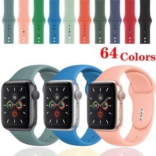 Dây đeo silicon thay thế chuyên dụng cho đồng hồ thông minh Apple iwatch 38/40/42 / 44mm 5 4 3 2 1