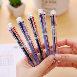 Bút bi nhiều màu thiết kế 6 trong 1 hoặc 8 trong 1 ngòi 0.5mm tiện dụng 3