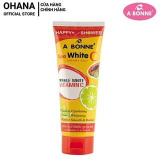 Muối Tắm Sữa Spa A Bonne Vitamin C Làm Trắng Da, Tẩy Tế Bào Chết A Bonne Spa White C Creamy Salt 350g (Tuýp)