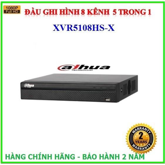 Đầu ghi hình 8 kênh Dahua XVR5108HS-X, hỗ trợ camera HDCVI/TVI/AHD/Analog/IP ( 1080P )