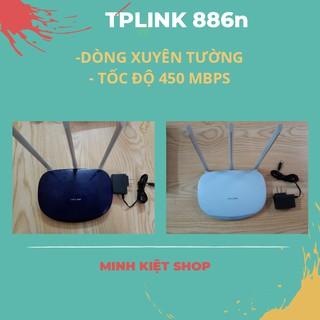 Yêu Thíchbộ phát wifi TPLINK 3 râu xuyên tường tốc độ cao 450mbp chính hãng
