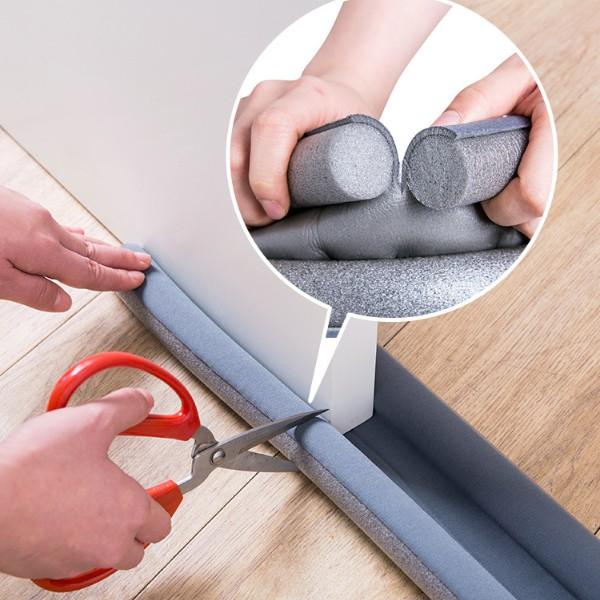 Nẹp xốp bịt đáy cửa cách nhiệt, bớt bụi, côn trùng-Thanh chắn khe hở cửa chống thoát hơi máy lạnh