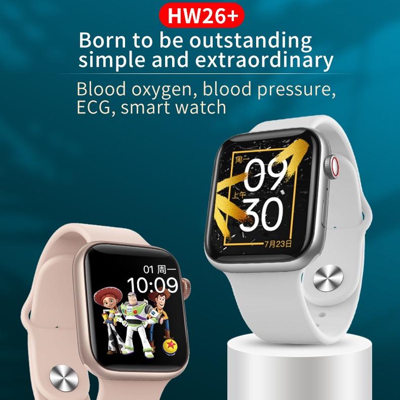 Đồng hồ thông minh HD 1.75inch HW26+ gọi thoại Bluetooth DIY cho Androis IOS VS HW22 HW12 HW16 HW13 HW22 Pro HW22 Plus