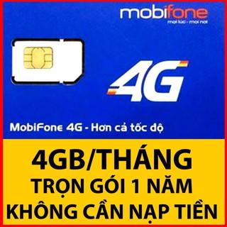 Sim mobifone 4G MDT250A - Tặng 4g 1 tháng - Dùng cả năm miễn phí thumbnail