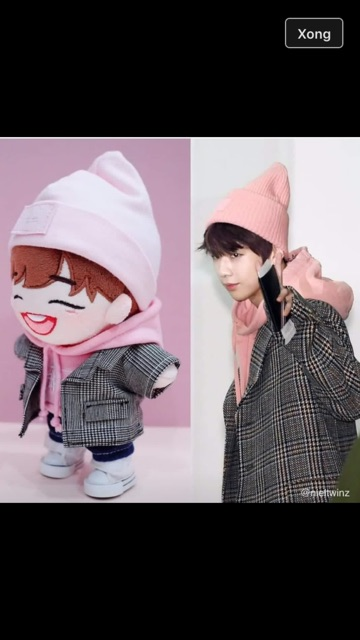 Outfit doll- set áo hoodie cảro ( ảnh minh hoạ)