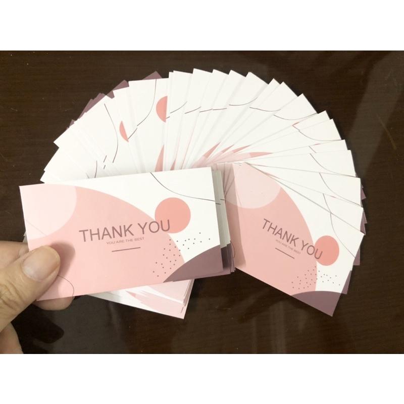 [Combo 100] Thiệp cảm ơn khách hàng thankyou card mới nhất giá rẻ
