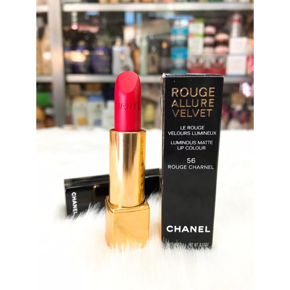 Son Lì Chanel Cao Cấp Chính Hãng Pháp 56 Màu Đỏ Tươi