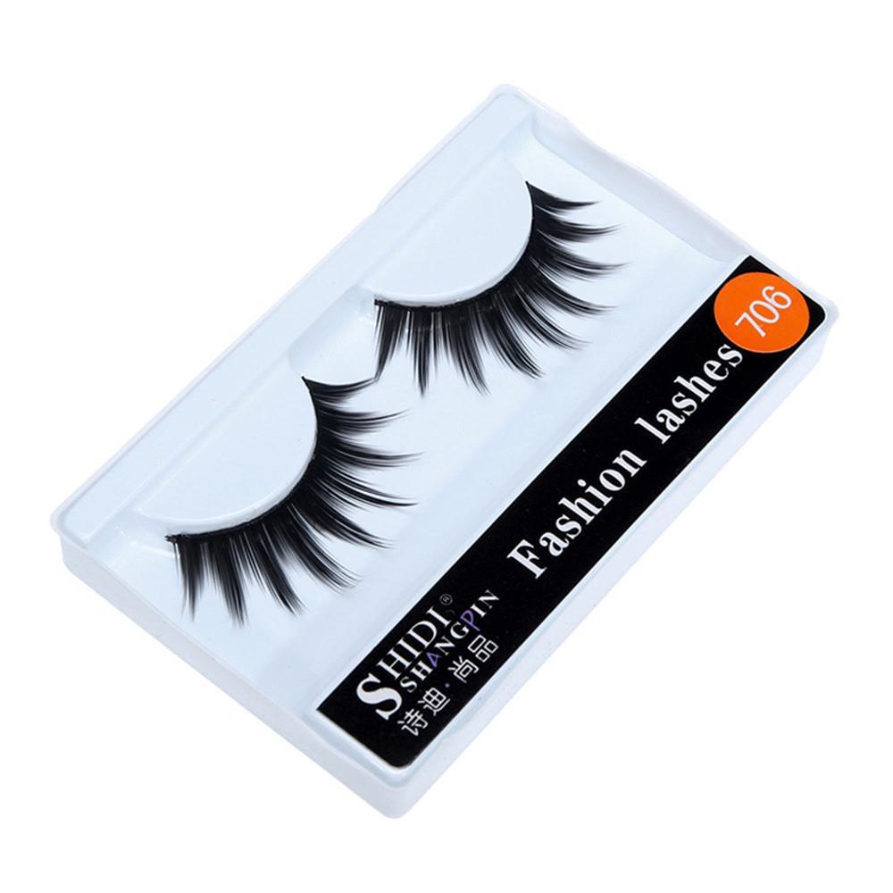 1 Pairs Long Cross Thick False 3D Dense Eyelashes Nautral Eye Lashes-8