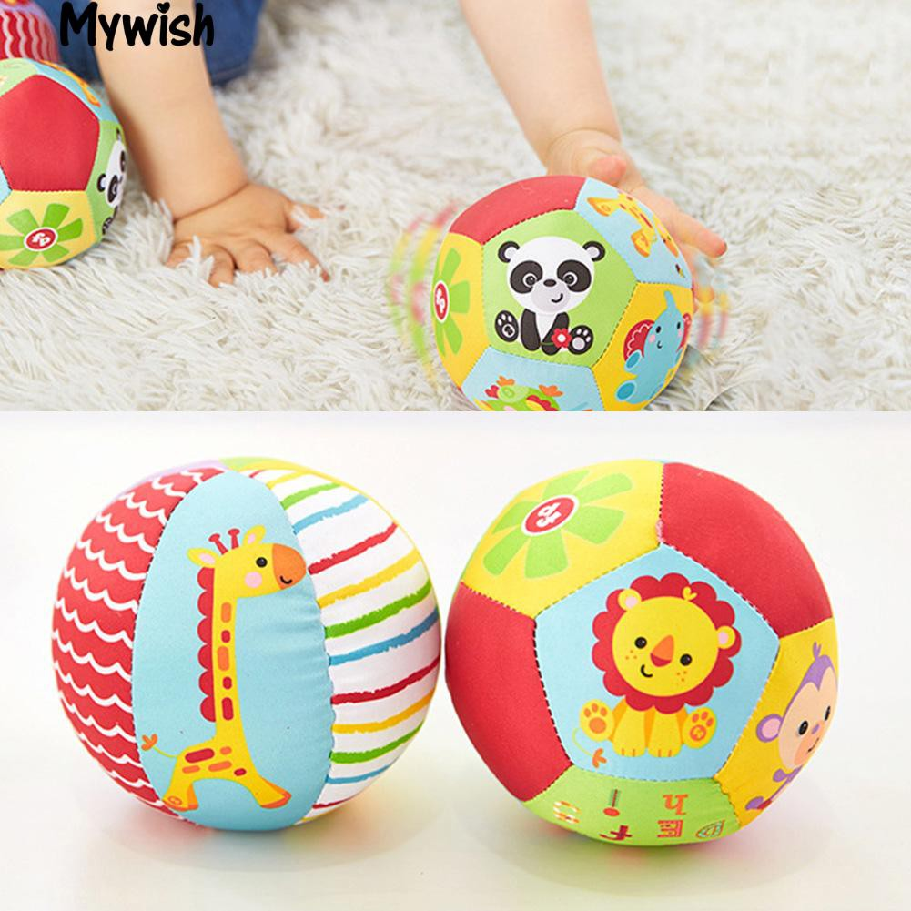 🏆Infant Kids Soft Stuffed Ball Animal Pattern Bell Sports Crib New Toy