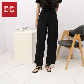 Hình ảnh Sandal nữ xỏ ngón dây mảnh thời trang Erosska cao 5cm màu kem_EB024-4