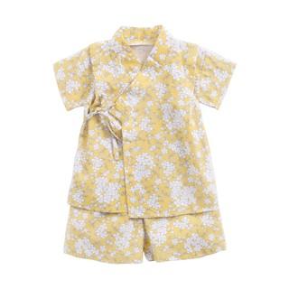 Bộ Quần Áo Sanlutoz Từ Cotton Màu Vàng In Hoa Thời Trang Mùa Hè Cho Bé Sơ Sinh
