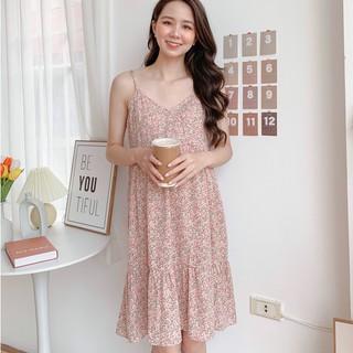 MEDYLA - Yếm bầu mùa hè hoa nhí tằm lụa Hàn Váy bầu thiết kế hoa nhí cho bầu mặc đi chơi, đi biển, du lịch - VY014 thumbnail