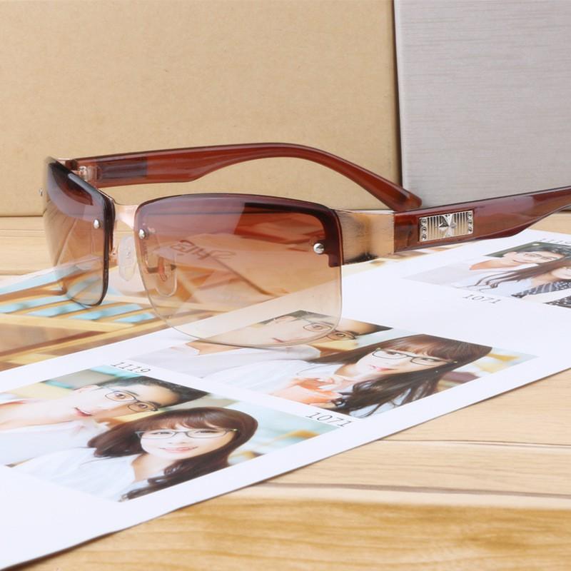 New Sunglasses Metal Fashion Trend Sun Square Driver Driving Mirror Leisure Sunglasses A