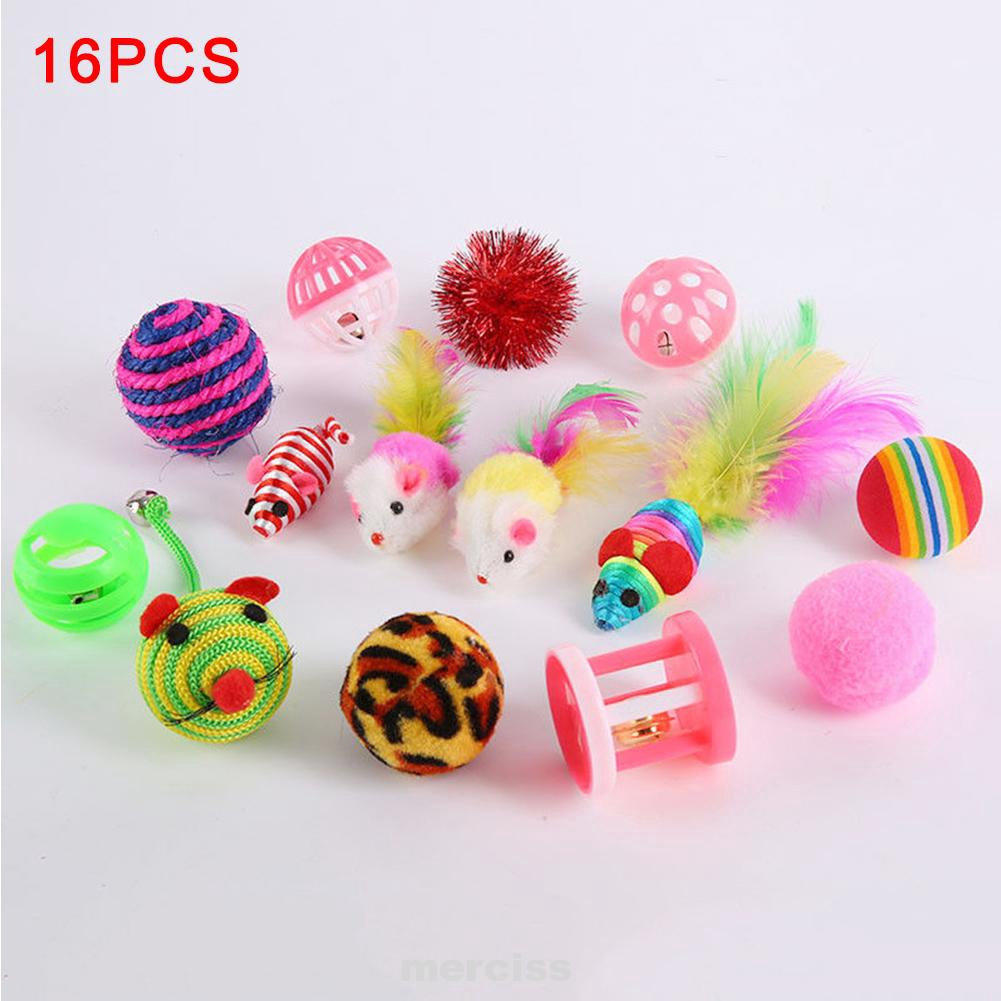 Cat Teaser RFID Blocking Kitten Toys Rod Silmulation Mouse Bells Feathers Balls Interactive Prop Pet Supplies