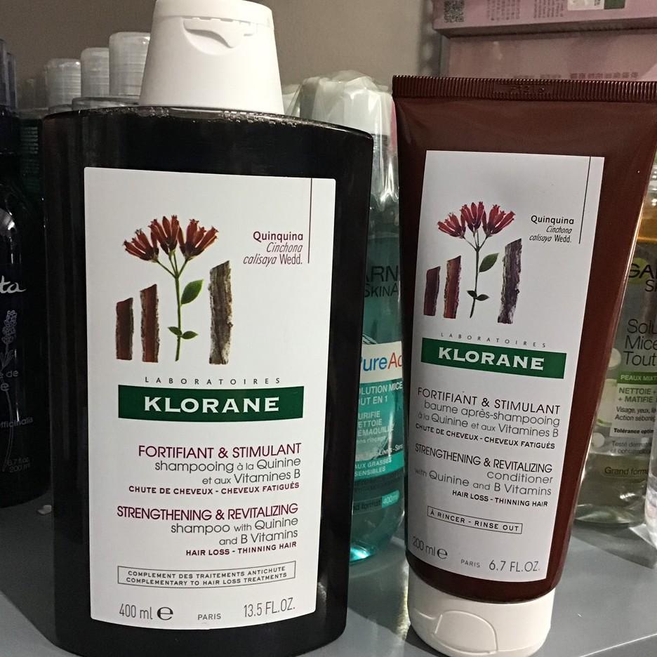 Dầu gội, xả trị rụng tóc Klorane Quinine Nội Địa Pháp