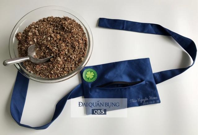 Combo đai + muối thảo dược giảm eo sau sinh ( loại dày)