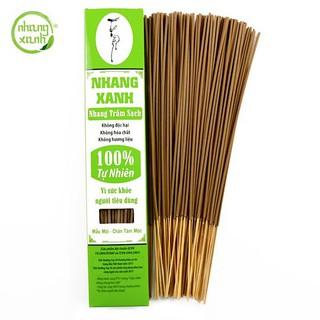Nhang Xanh Trầm Hương [HỘP 70G] nhang sạch làm từ 100% thiên nhiên, an toàn cho sức khỏe cả gia đình thumbnail
