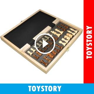 [Mã NOWSHIPVUI1 giảm 25k đơn 50k] [ToyStory] Bộ Cờ Vua Nam Châm Gỗ – Chuẩn Thi Đấu Kích Thước 40x40x5 cm Cao Cấp