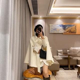Áo khoác nhung hai mặt màu đen áo khoác lông cừu nữ mẫu mới thu đông 2020 áo khoác trẻ em dáng ngắn dáng ngắn