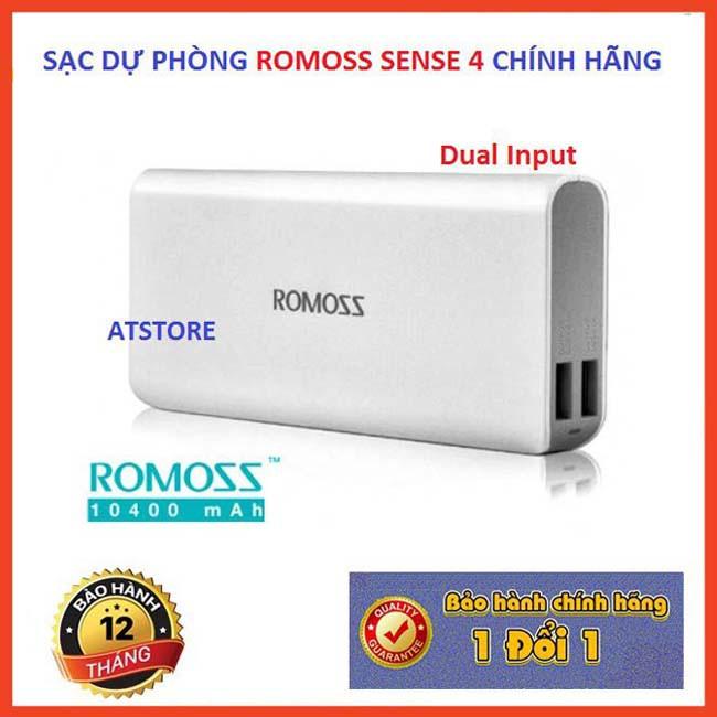 Pin Sạc Dự Phòng Romoss Sense 4 10000 MAh Chính Hãng - BH 1 Năm