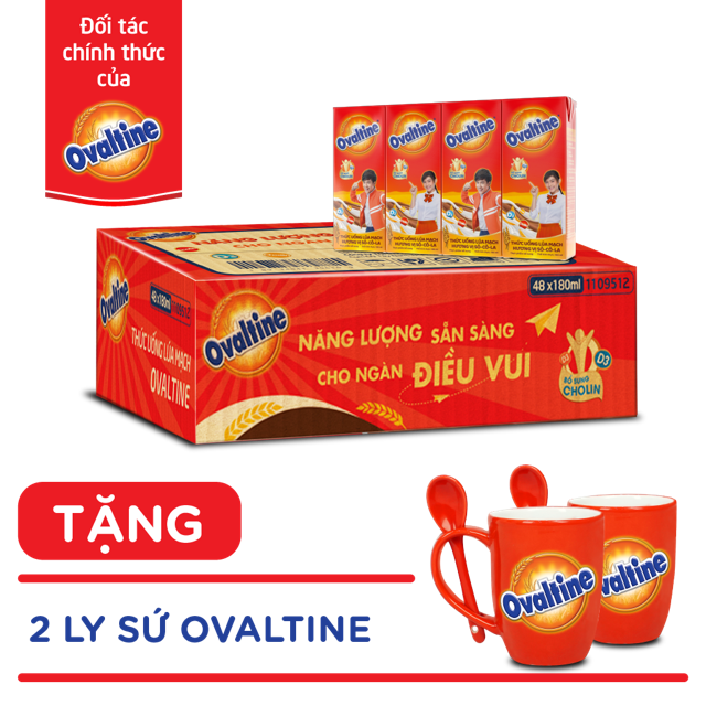 (HCM)Nhập TKBHALAN giảm 25k-Thùng 48 hộp Sữa nước Olvatine 180ml...