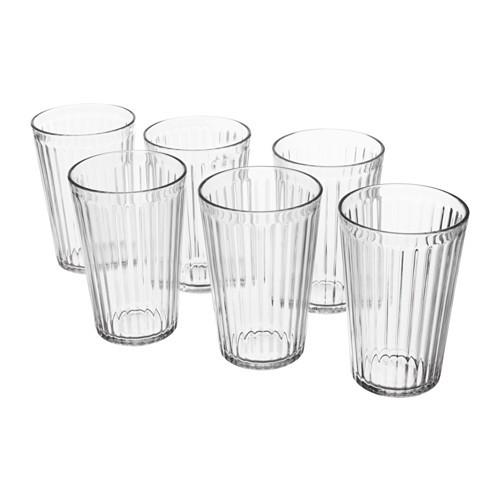 Bộ 6 cốc thủy tinh Ikea VARDAGEN 310ml