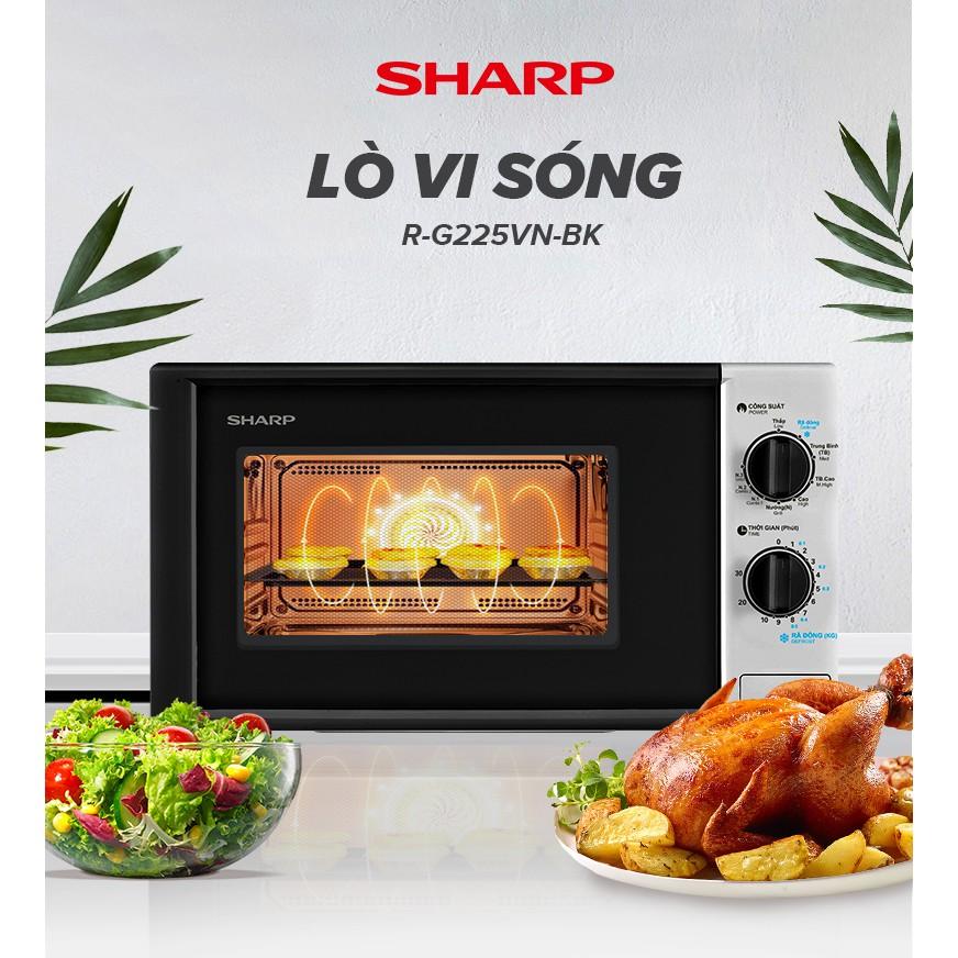 Lò Vi Sóng Cơ Sharp R-G225VN-BK 700W - Hàng Chính Hãng Bảo Hành 12 Tháng