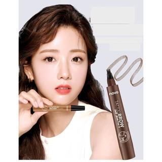Bút chì kẻ lông mày- phẩy sợi lông mày 4D không trôi nước dạng gel Suake eyebrown contuoring