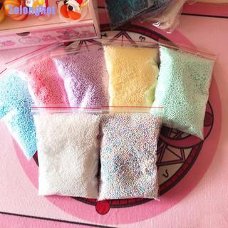 Tolonghot❥ Warm Color Snow Mud Particles Accessories Tiny Foam Beads Balls Supplies