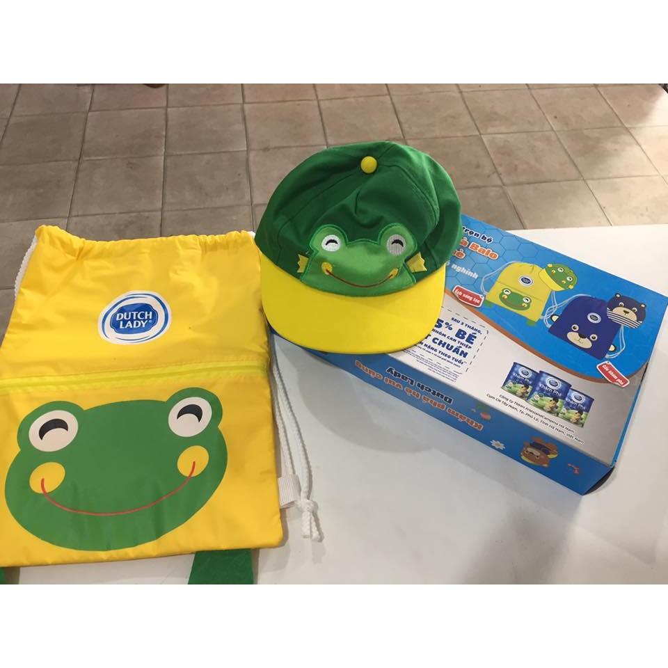 Bộ nón và balo du lịch cho bé cưng (gấu, ếch)