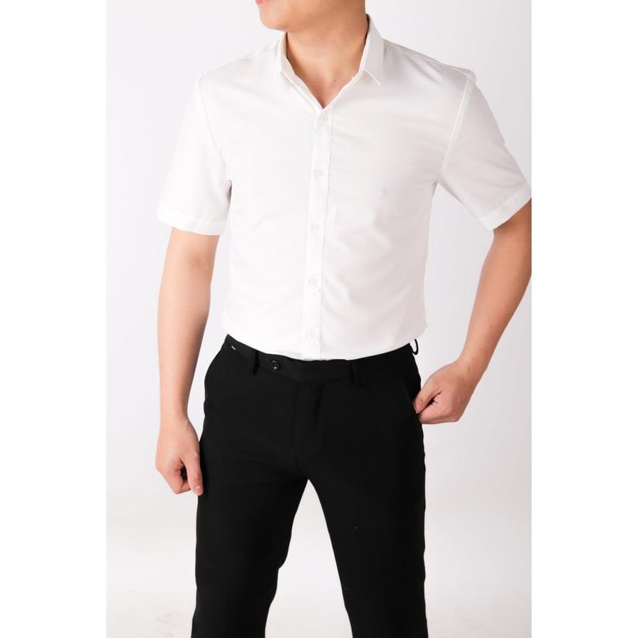 Áo Sơ Mi Nam Cộc Tay 100% Cotton Thoáng Mát - Sơ mi ngắn tay Ngắn tay