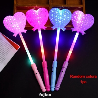 Luminous Light Up Flashing Led Lighting Multi Color Novelty Party Princess Wand Scepter Toy