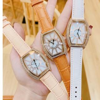 Đồng hồ nữ Franck muller dây da, mặt bầu đính đá, hàng full box, thẻ bảo hành 12 tháng thumbnail