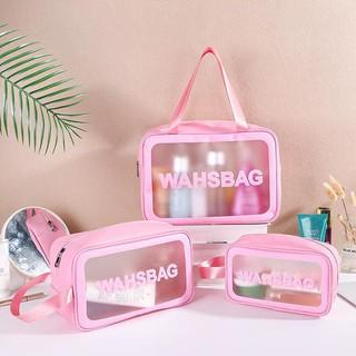 Túi đựng mỹ phẩm, đồ trang điểm du lịch washbag trong suốt, chống thấm nước tiện dụng HL8 thumbnail